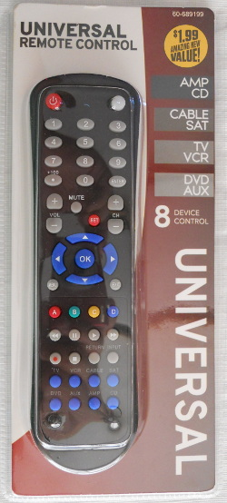 Program the 99 Cents Only Store, Momentum Brands, 8 Device Universal Remote Control 60-689199